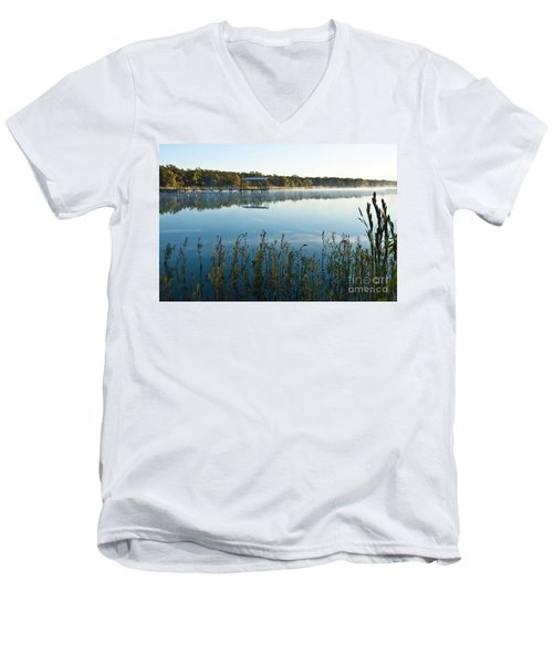 The Old Fishing Pier Men's V-Neck T-Shirt by Tamyra Ayles
