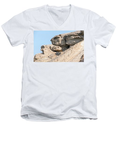 Men's V-Neck T-Shirt featuring the photograph The Old Gatekeeper 02 by Arik Baltinester