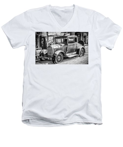 The Old Model Men's V-Neck T-Shirt by Marius Sipa