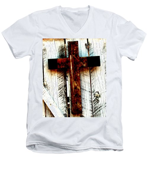 The Old Rusted Cross Men's V-Neck T-Shirt