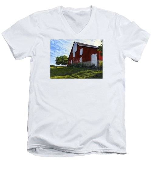 The Old Stucco Barn Men's V-Neck T-Shirt
