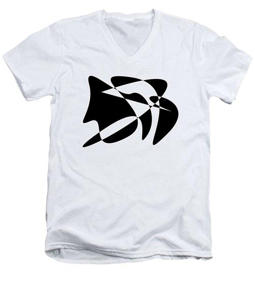 The Orator Men's V-Neck T-Shirt by David Bridburg