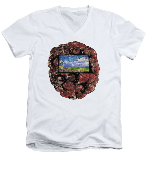 The Blackberry Concept Men's V-Neck T-Shirt by ISAW Gallery