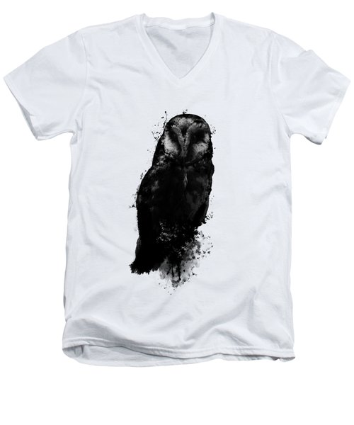 The Owl Men's V-Neck T-Shirt by Nicklas Gustafsson