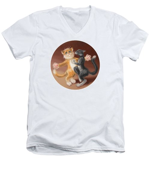 The Painting About Love  Men's V-Neck T-Shirt