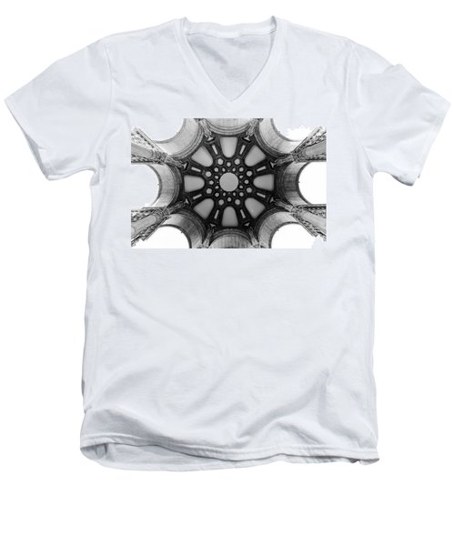The Palace Of Fine Arts Dome Men's V-Neck T-Shirt