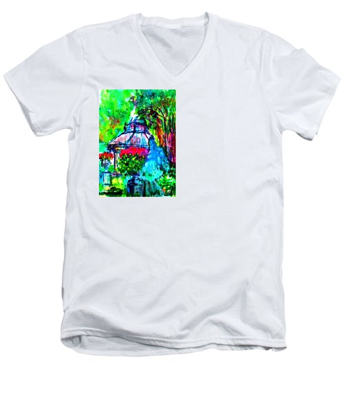 Flowers In The Park Men's V-Neck T-Shirt
