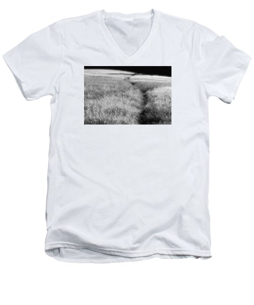 Men's V-Neck T-Shirt featuring the photograph The Path by Mark Alan Perry