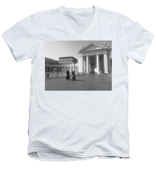The Path To Temple Men's V-Neck T-Shirt