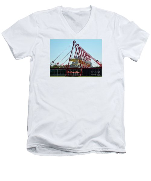 Men's V-Neck T-Shirt featuring the photograph The Patscentre by Lyric Lucas