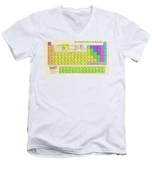 The Periodic Table Of The Elements Men's V-Neck T-Shirt by Olga Hamilton