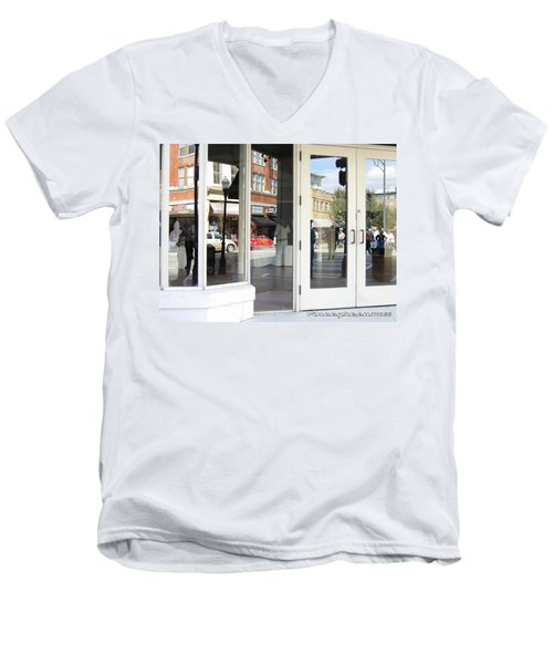 The Photographer And His Doppelganger Men's V-Neck T-Shirt