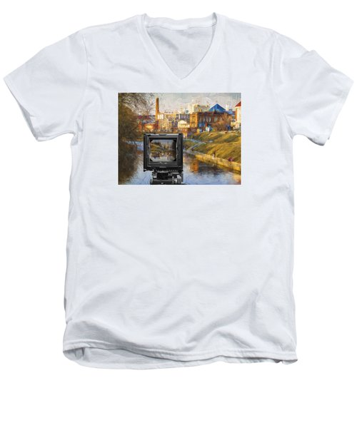Men's V-Neck T-Shirt featuring the photograph The Photographer's Way Of Seeng by Vladimir Kholostykh
