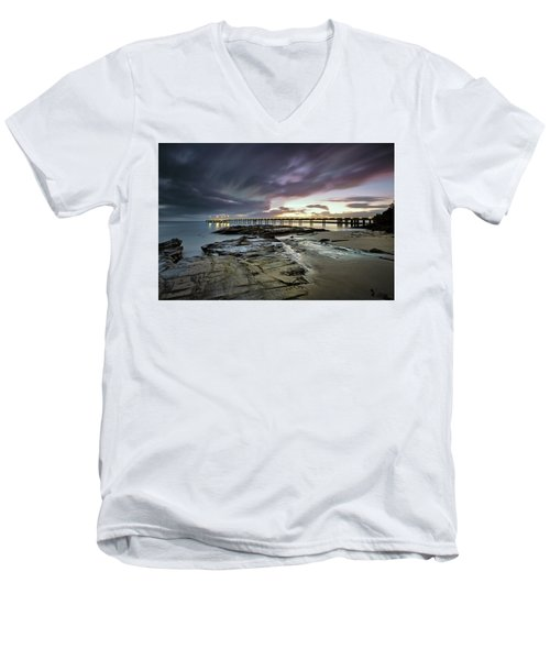 The Pier @ Lorne Men's V-Neck T-Shirt by Mark Lucey
