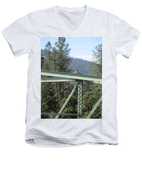 Men's V-Neck T-Shirt featuring the photograph The Pretender by Marie Neder