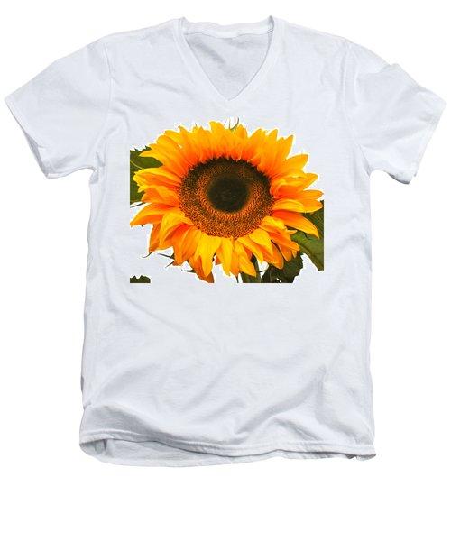 The Prettiest Sunflower Men's V-Neck T-Shirt