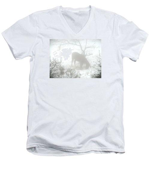 Men's V-Neck T-Shirt featuring the photograph The Primal Mist by Annemeet Hasidi- van der Leij