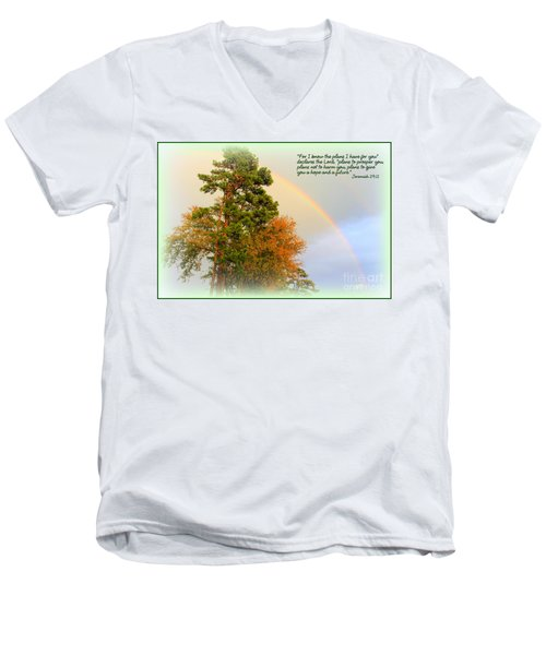 The Promises Of God Men's V-Neck T-Shirt by Kathy  White