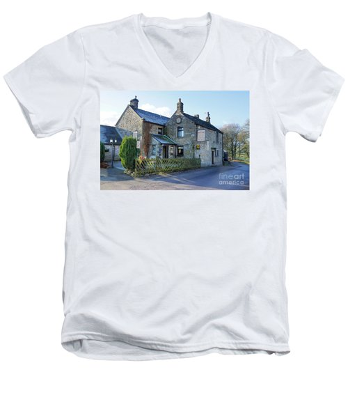 The Queen Anne At Great Hucklow Men's V-Neck T-Shirt