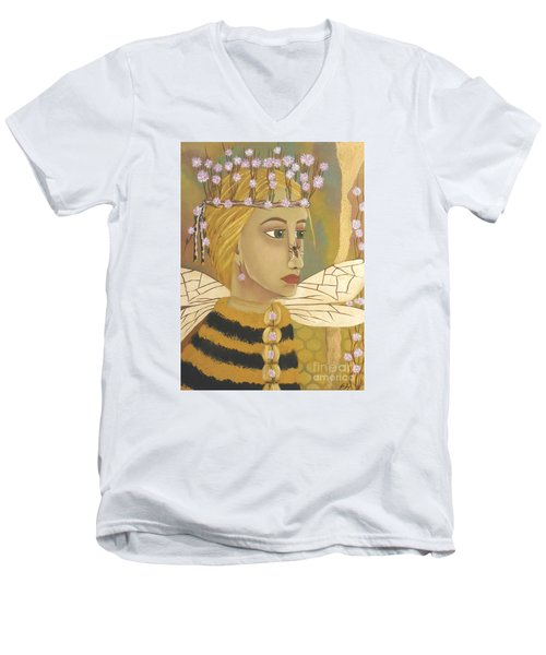 The Queen Bee's Honeycomb Men's V-Neck T-Shirt