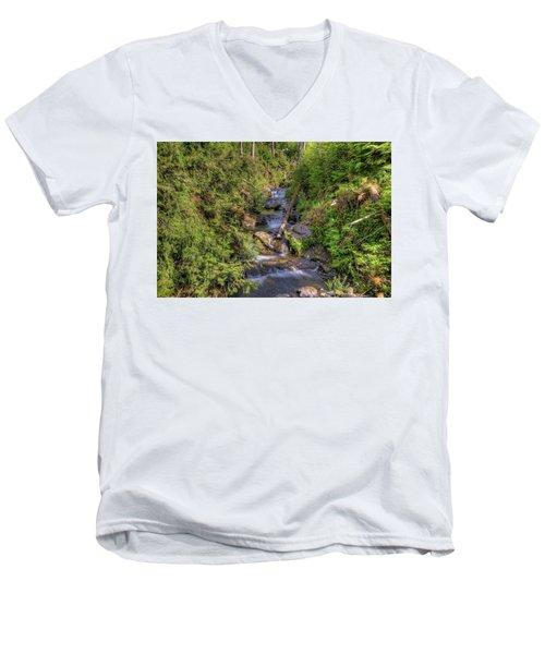 The Quinault Stream 2 Men's V-Neck T-Shirt