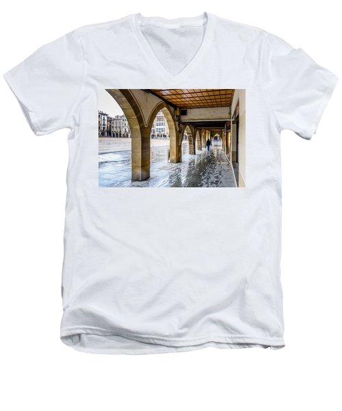 The Rain In Spain Men's V-Neck T-Shirt by Randy Scherkenbach