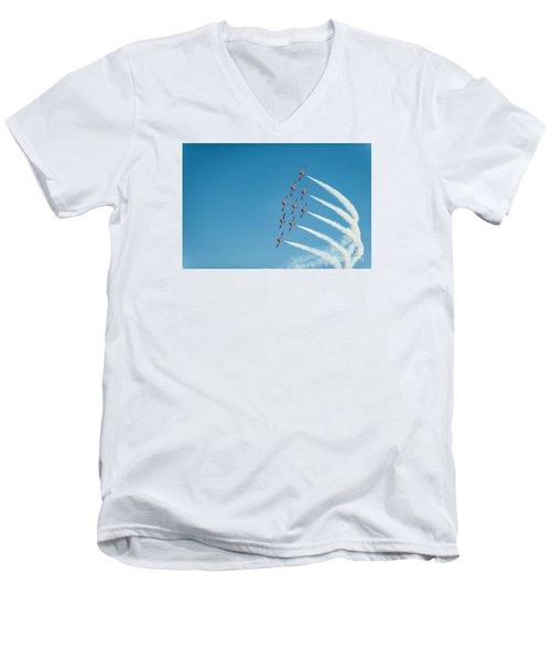 The Rcaf Snowbirds Men's V-Neck T-Shirt