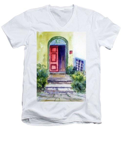 The Red Door Men's V-Neck T-Shirt