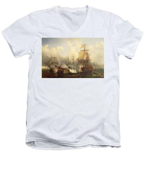 Unknown Title Sea Battle Men's V-Neck T-Shirt