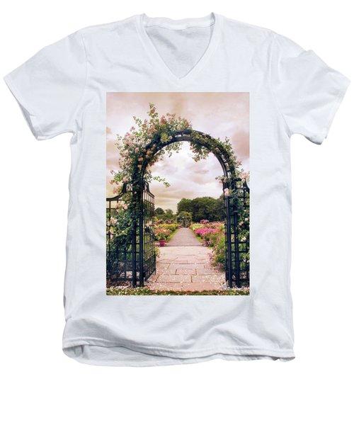 The Rose Allee Men's V-Neck T-Shirt