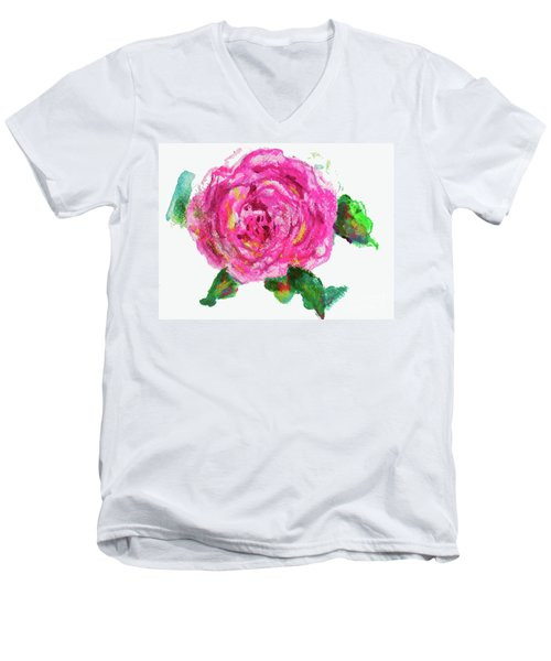 The Rose Men's V-Neck T-Shirt by Beth Saffer