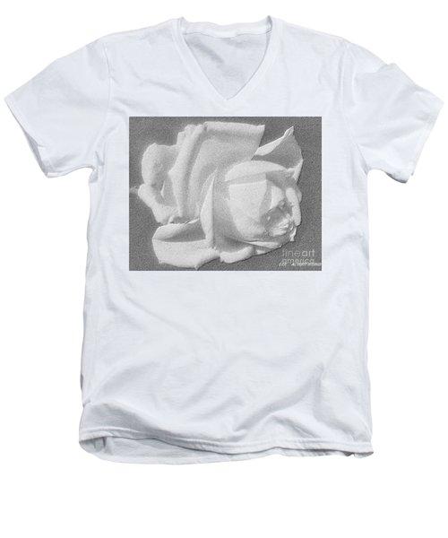 The Rose Men's V-Neck T-Shirt by Saribelle Rodriguez
