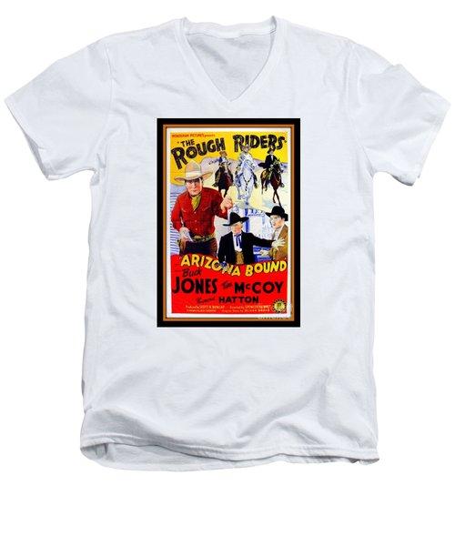 The Rough Riders Men's V-Neck T-Shirt