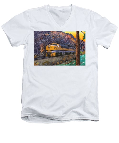 The Royal Gorge Men's V-Neck T-Shirt