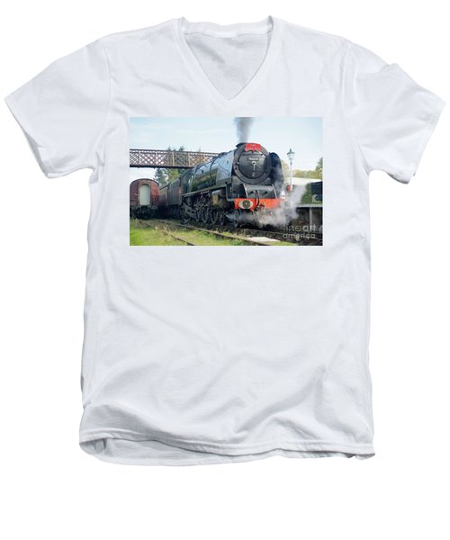 The Royal Scot At Butterley Men's V-Neck T-Shirt