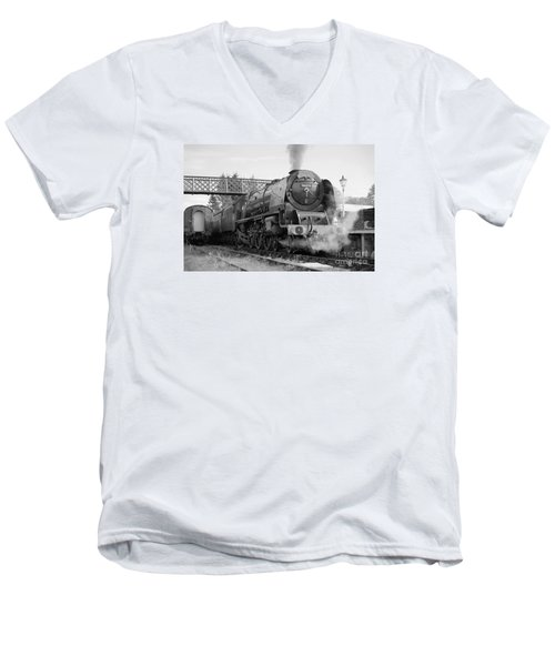 The Royal Scot In Black And White Men's V-Neck T-Shirt