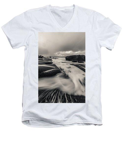 The Rush Of The North Sea Men's V-Neck T-Shirt