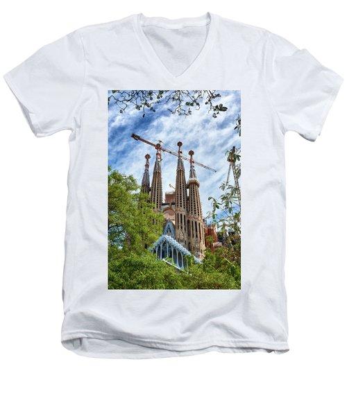 The Sagrada Familia Men's V-Neck T-Shirt