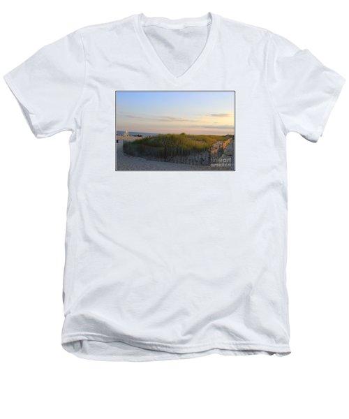 The Sand Dunes Of Long Island Men's V-Neck T-Shirt