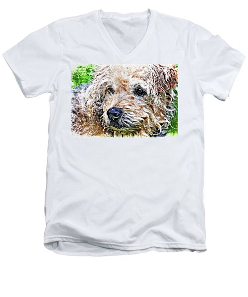 The Scruffiest Dog In The World Men's V-Neck T-Shirt