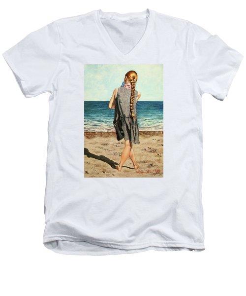 The Secret Beauty - La Belleza Secreta Men's V-Neck T-Shirt