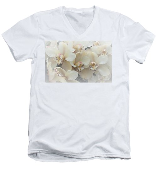 The Secret To Orchids Men's V-Neck T-Shirt by Sherry Hallemeier