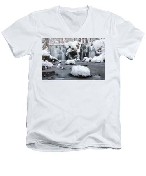 The Secret Waterfall In Winter 1 Men's V-Neck T-Shirt