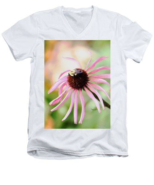 Men's V-Neck T-Shirt featuring the photograph The Sharing Game by Deborah  Crew-Johnson
