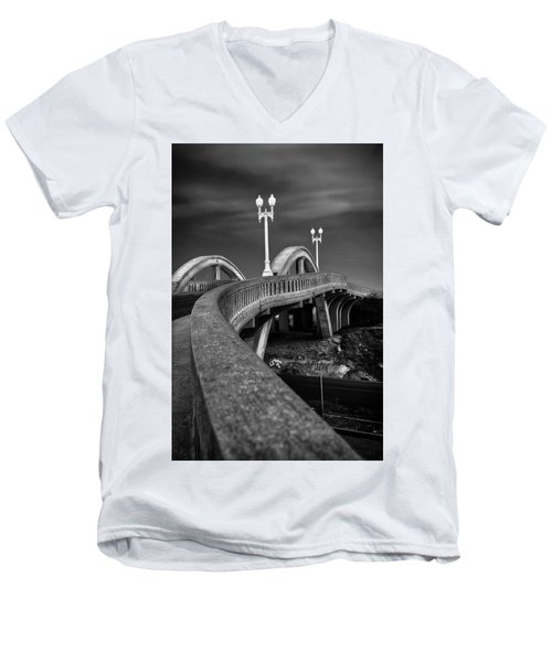 The Sierra Vista Bridge Of Roseville Men's V-Neck T-Shirt