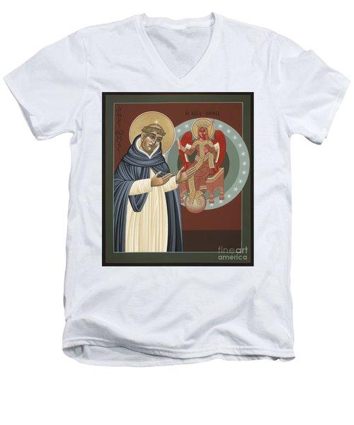 The Silence Of St Thomas Aquinas 097 Men's V-Neck T-Shirt
