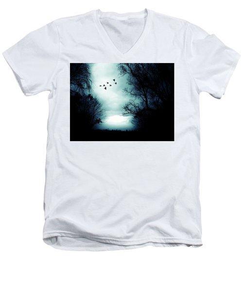 The Skies Hold Many Secrets Known Only To A Few Men's V-Neck T-Shirt by Michele Carter