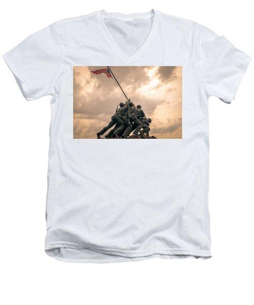 The Skies Over Iwo Jima Men's V-Neck T-Shirt