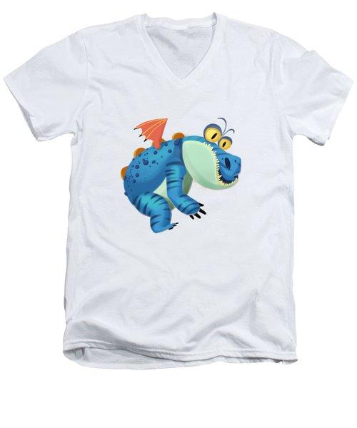 The Sloth Dragon Monster Men's V-Neck T-Shirt by Next Mars