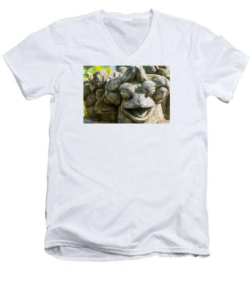 the Smiling Frog Men's V-Neck T-Shirt